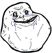 Emoticon meme Forever Alone