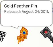 GoldFeatherPinSB