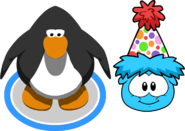 Mini Polka Dot Puffle Hat In-Game