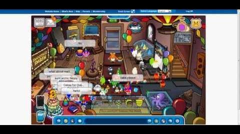 Club Penguin's 8th Anniversary and meet Aunt Arctic 2013