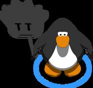 Black Puffle Balloon in-game