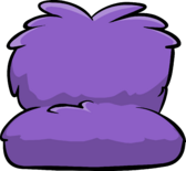 Fuzzy purple couch