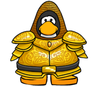 Golden Knight's Armor from a Player Card