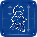 Blueprint Coral Mermaid icon