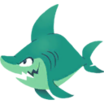Decal Shark beach icon