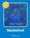 Rainbofeet desconectada en la Lista de Amigos