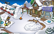 Festival of Snow 2015 construction Ski Village