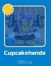 Cupcakehands en la lista de amigos