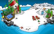 Playa en la fiesta submarina