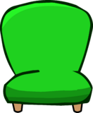 Green Plush Chair (97)