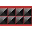 Cinturón con Tachas negras