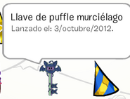 Llave de puffle murcielago