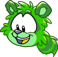 Puffle Party 2015 Comic Green Raccoon Puffle