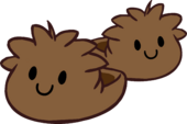 Brown Puffle Slippers icon