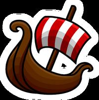Pin de Barco Vikingo icono