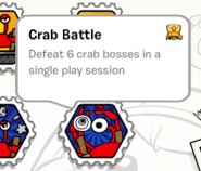 Crab battle stamp book