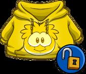 GoldPuffleHoodie