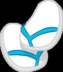 Blue & White Flip Flops icon