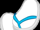 Blue & White Flips Flops