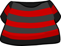Camiseta a Rayas Negra y Roja icono