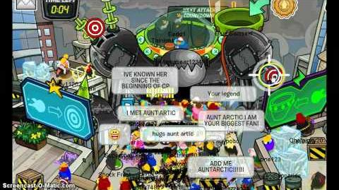 Club Penguin - Meeting Aunt Arctic Marvel Superhero Takeover 2012