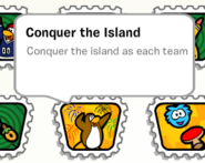 Conquer the island stamp book
