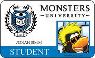 Jonah Simm MU Identification Card