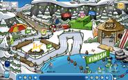 La Bahía los Juegos Pinguinos