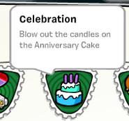 Celebration stamp stampbook
