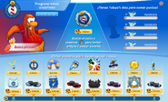 Interfaz de la Copa Club Penguin salsa picante