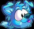 Puffle perro mostrando su lengua