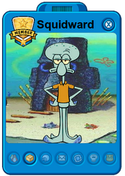 Squidward playercard