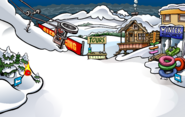 Black Puffle in The Great Storm of 2009 Ski Village