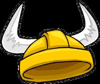 Casco de Vikingo Dorado icono