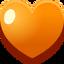 Corazón Naranja Emoticón