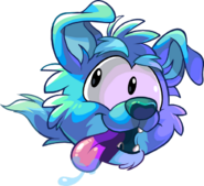 Dog Puffle Running