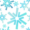 Fabric Snowflakes winter icon