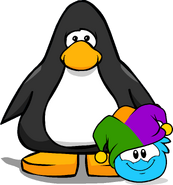 Jester Hat (Puffle Hat) on Player Card
