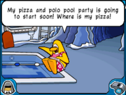 Pizza and polo pool party penguin