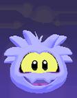 Purple ghost 3d icon