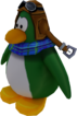 Sled Racer Penguin Model Green