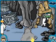Wheel bot mine tunnels