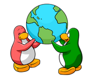Penguins carry the world