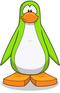 Pinguino verde lima-0