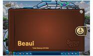 Album de estampillas de Beaui