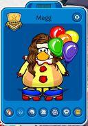 Tarjeta de Jugador de Megg (durante el 9no Aniversario de Club Penguin)