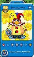 Tarjeta de Jugador de Squeakynose (durante la Copa Club Penguin)