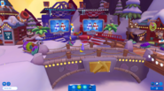Waddle On Party Mt Blizzard race stands