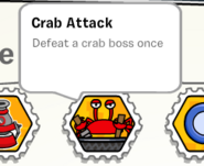 Crab attack stamp book