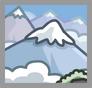 Montaña Ubicación icono